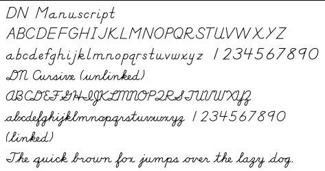 cursive writing fonts